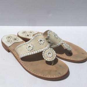 Jack Rogers Glitter Sparkle Whipstitched Sandal